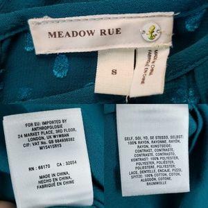 Anthropologie Tops - Anthro Meadow Rue Teal Long Sleeve Top